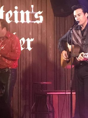 Pete Storm and Pete Sinclair as Cash and Diamond tribute performing at Frankenstein pub edinburgh